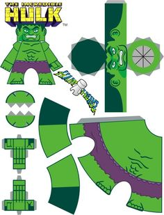 hulk paper craft-ryan 5th bday