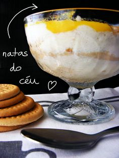 Recipe for portuguese sweet 'Natas do céu'.