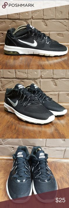 bdc68fc6 Shop Women's Nike Black White size Athletic Shoes at a discounted price at  Poshmark. Description: Nike Women's Air Max Fusion Shoes, Black/Silver/White,  ...