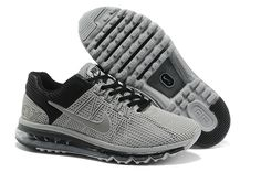 reputable site f0692 22a8d 2013 Air Max Grey Black Mens Running Shoes