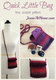 Quick Little Bag ~ free crochet pattern by Jessie At Home #tutorial #diy #idea