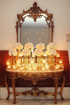 hydrangeas & candles.