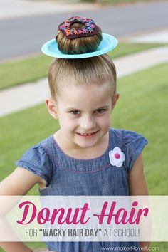 Donut Hair for Wacky Hair Day or Halloween from MichaelsMakers Make It Love It