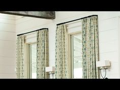 How To Measure for Curtains | Make your rooms feel larger with these tried and true curtain measurements. | SouthernLiving.com