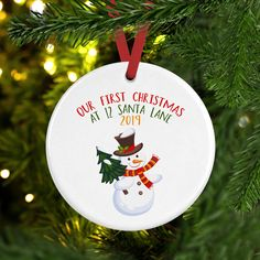 PERSONALISED GLOSS FROSTY SNOWMAN CHRISTMAS PRESENT FUN GIFT XMAS PARTY STICKER