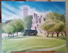 Oil on canvas, Glastonbury (sold)