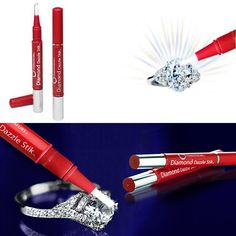 Do you want a very easy way to clean your Engagement Ring at home? Diamond Dazzle Stik with do just that. Diamond Dazzle Stik's jewellery cleaning gel contains micro-fine cleansers and polishing agents that bring radiance and luster to diamonds. http://www.secretfashionfixes.ie/diamond-dazzle-stik--twist-brush-dazzle-from-connoisseurs/diamonddazzlepd.html