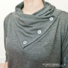 Great tutorial for this neckline.