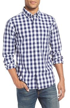 Free shipping and returns on Jack Spade 'Sheppard' Trim Fit Gingham Check Sport Shirt at Nordstrom.com. A bold gingham check print offers eye-catching style to a long-sleeve sport shirt cut for a slim fit from soft and lightweight cotton. A crisp button-down collar finishes the sharp look.