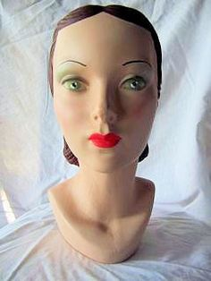 Gorgeous vintage mannequin head reproductions!!