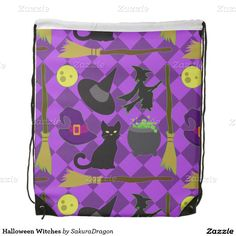 Halloween Witches Backpacks #halloween #witch #cat #blackcat #broom
