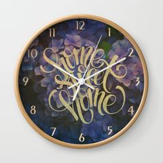 "#home #homesweethome #hydrangeas #typo #vintage Available in natural wood, black or white frames, our 10"" diameter unique Wall Clocks feature a high-impact plexiglass crystal face and a backside hook for easy hanging. Choose black or white hands to match your wall clock frame and art design choice. Clock sits 1.75"" deep and requires 1 AA battery (not included)."