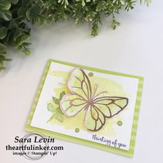 Stamping Sunday blog hop Brushos and Beautiful Day in Lemon Lime Twist from theartfulinker.com