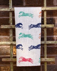Colorful Galloping Horse Pattern Tea Towel - The Painting Pony