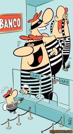 Va un ladrón a un banco…   Risa Sin Más