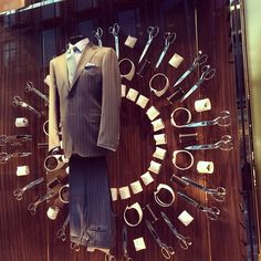 """CANALI 1934, New Bond Street, London, England, """"Creating impeccable suits for discerning men of style"""", pinned by Ton van der Veer"""