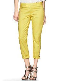 Slim cropped refined pants   Gap
