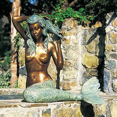 brass mermaid I will have something like this near my pool!