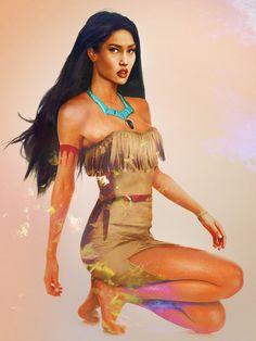 Princesas Disney na vida real - Pocahontas Disney Pocahontas, Walt Disney, Real Disney Princesses, Princess Pocahontas, Disney Girls, Disney Love, Disney Magic, Disney Pixar, Disney Characters