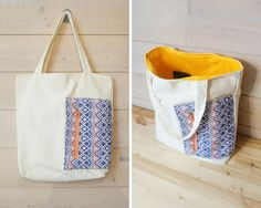Tote bag - sweet colored pocket