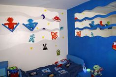 Space Rocket wall stickers