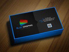 Vizitka Blue Graphic
