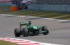 Round 3, UBS Chinese Grand Prix 2013, Qualify, P20 #20 Charles Pic (1m39.614) (Above) and P21 #21 Giedo van der Garde (1m39.660), Caterham F1 Team