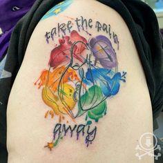 Rad rainbow clitoris tattoo done by Meghan Patrick. #12ozstudios #team12oz #tattoo #tattoos #tattooed #tattooing #tattooism #tattooart #tattooartist #tattooer #tattooist #art #artstudio #tattooshop #tattoostudio #ink #inked #colortattoo #colortattoos #rainbow #rainbowtattoo #pride #pridemonth #pridetattoo #feminine #femininetattoo #freshtattoos Meghan Patrick, Pride Tattoo, Rainbow Tattoos, Feminine Tattoos, Custom Tattoo, Tattoo Shop, Tattoo Studio, Cool Artwork, Tattoo Artists