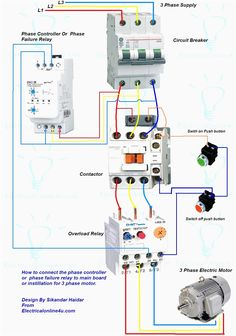 Contactor wiring guide for 3 phase motor with circuit breaker wiring diagram for motor starter 3 phase controller failure relay electrical pleasing three and contactor asfbconference2016