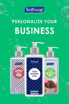 Create the perfect accent for your business with a personalized bottle of hand soap. Buy more save more at mysoftsoap.com!