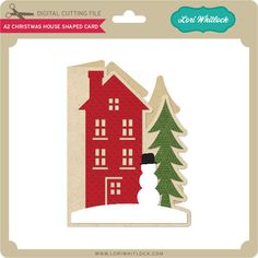 Christmas Card in the shape of a house