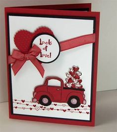 easy valentine cards, stampin up Valentine Love Cards, Valentine Crafts, Handmade Valentines Cards, Homemade Valentine Cards, Valentine Ideas, Creative Cards, Anniversary Cards, Greeting Cards Handmade, Scrapbook Cards