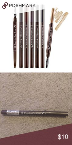 Etude House Drawing Eye Brow Pencil #3 Etude House | New Never Used | Shade 3 | Drawing Eyebrow Pencil | Korean Brand | Very Popular ||✨tags: Brandy Melville , BM , American Apparel , AA , UO Urban Outfitters , Topshop , Korean K Beauty , K Fashion , Innisfree ‼️MAKE OFFERS THROUGH BUTTON ONLY‼️❌NO TRADES PLEASE❌ Etude House Makeup Eyebrow Filler