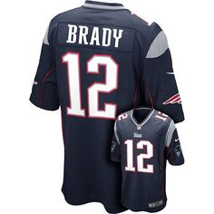 Nike New England Patriots Tom Brady Game NFL Replica Jersey - Men #Kohls