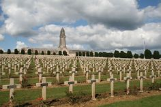 The cemetery with Douaumont ossuary (Verdun), France (Meuse).