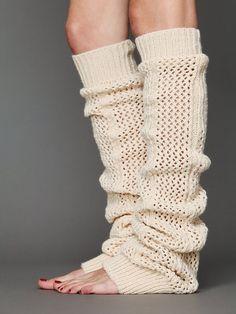 Free People Thigh High Crochet Legwarmer