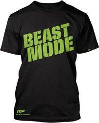 For Bryan's Bday: Muscle Pharm Black Beast Mode T-Shirt $27.99 http://www.fansedge.com/Muscle-Pharm-Black-Beast-Mode-T-Shirt-_-760552280_PD.html?social=pinterest_pfid25-11907