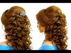 Romantic bridal prom hairstyle for long hair tutorial - YouTube