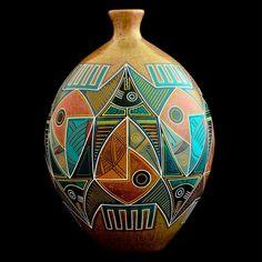 Luis Enrique Gutierrez (bruñido con frotado de piedras, sin esmaltes. - Nicoyan Indian heritage