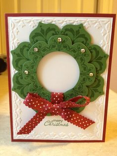 Daydream Medallions Wreath....just got this on my last Stampin' Up order, and now I can do my xmas cards!