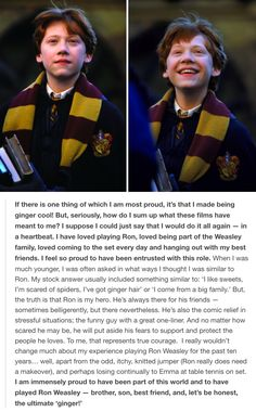 Ron Weasley - Rupert Grint. Pinned by @lilyriverside