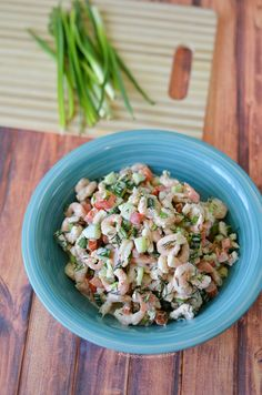 Shrimp salad with cu