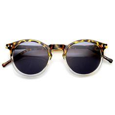 Dapper Indie Round P3 Keyhole Horned Rim Sunglasses 9569