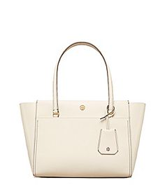 New Ivory/mango Tory Burch Parker Small Tote