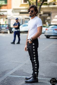 Giotto Calendoli Street Style Street Fashion Streetsnaps by STYLEDUMONDE Street…
