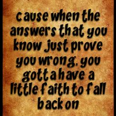 Faith to Fall back on- Hunter Hayes