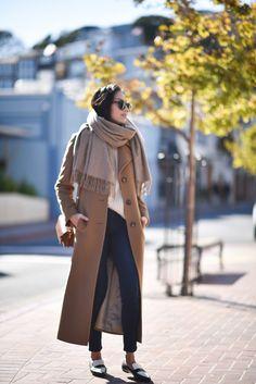 Camel Coat / 7Fam Jeans / Celine Loafers
