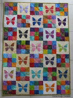 Scrappy Butterfly Baby Quilt Tutorial | Let your imagination take flight with this baby quilt!
