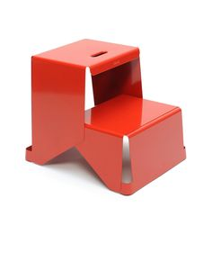 Step stool by Sebastien Cordoleani For Tolix. I'm really developing a love for vividly colored, sculptural pieces like this.