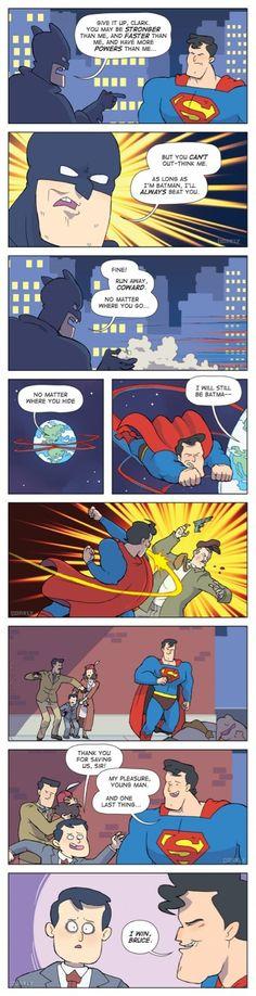 Superman always wins #FuckBatman